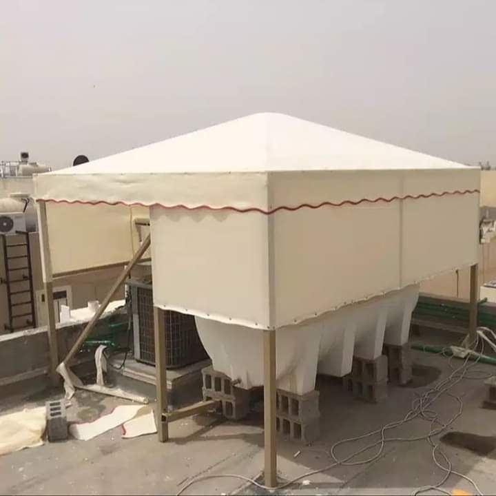 تركيب مظلات تغطية خزانات مياه مظلة خزان مياه السطح 0559069442
